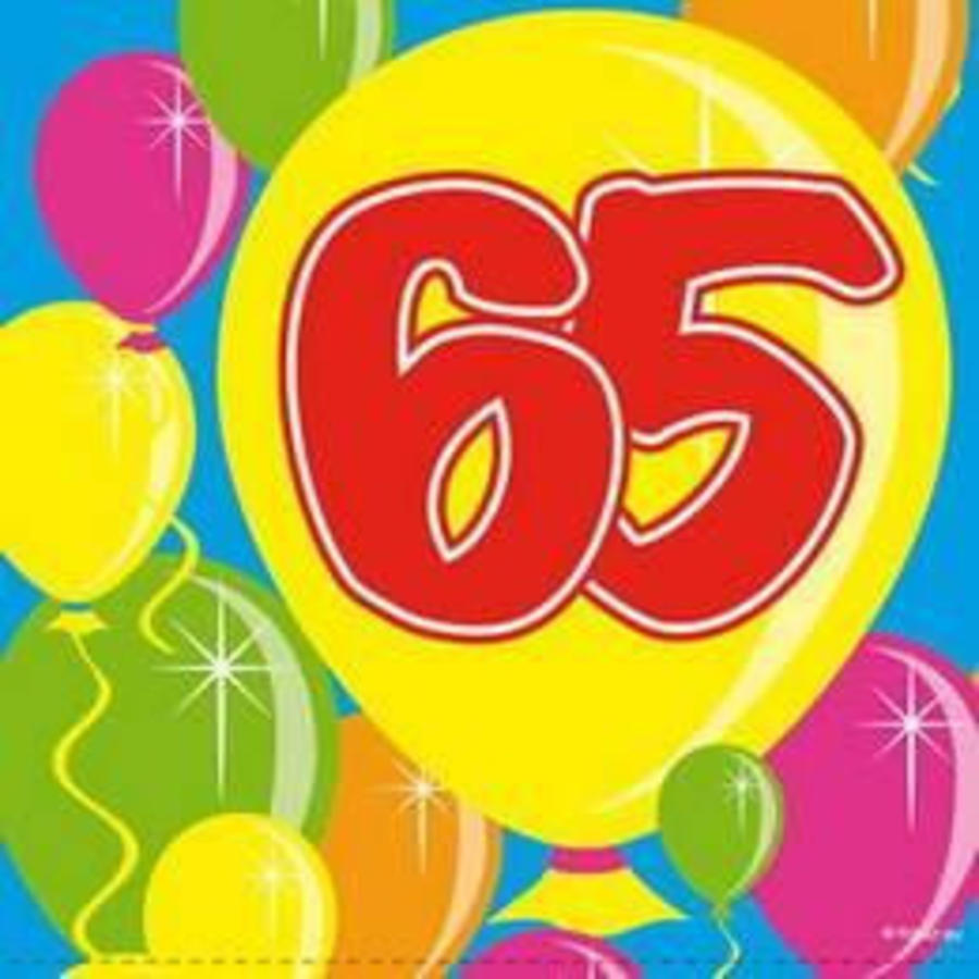 Servetten 65 jaar ballonnen