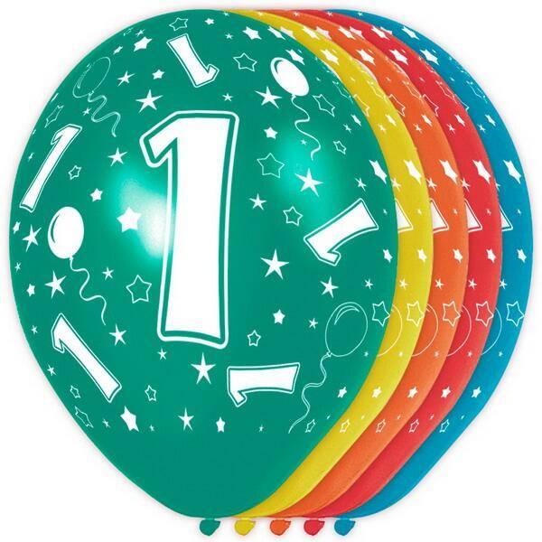 Ballonnen 1 jaar rondom bedrukt