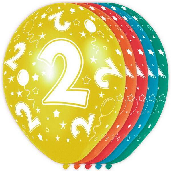 2 jaar ballonnen rondom bedrukt