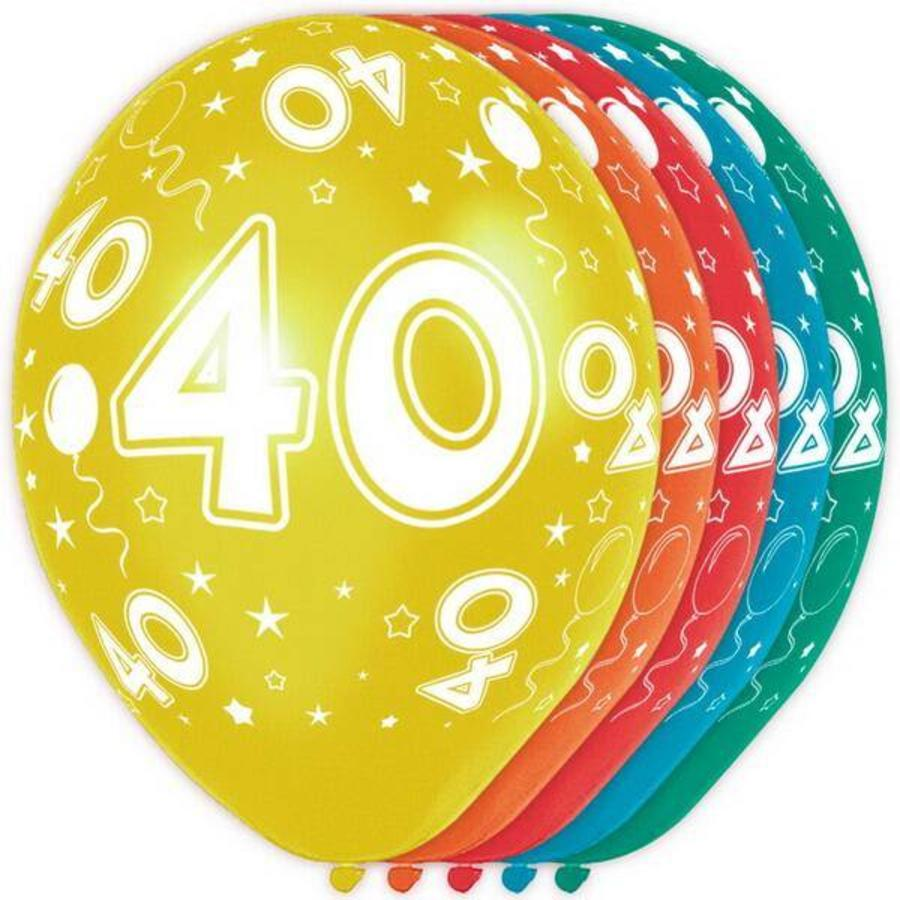 Ballonnen 40 jaar rondom bedrukt