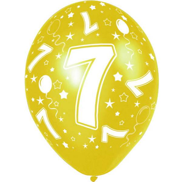 7 jaar ballonnen rondom bedrukt