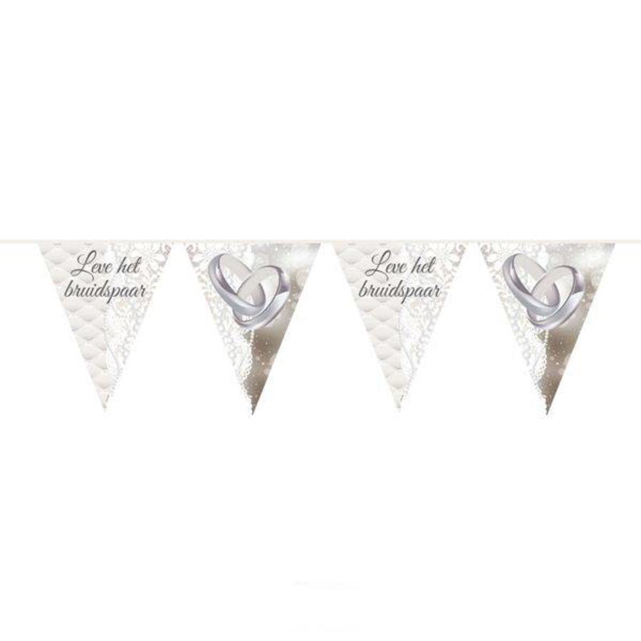 Vlaggenlijn Leve het bruidspaar
