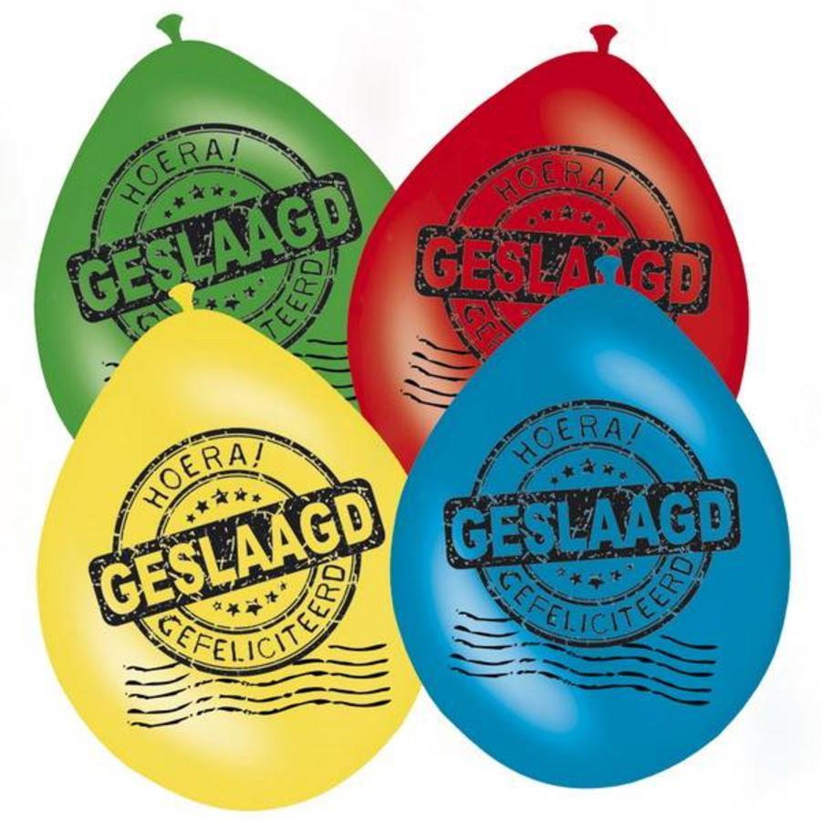 Ballonnen Geslaagd 8 stuks