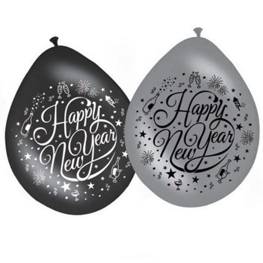 Ballonnen Happy new year 8 stuks