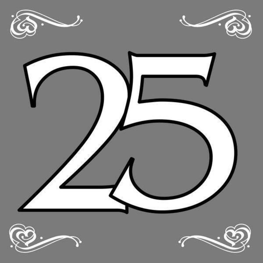 Servetten 25 jaar zilverkleurig