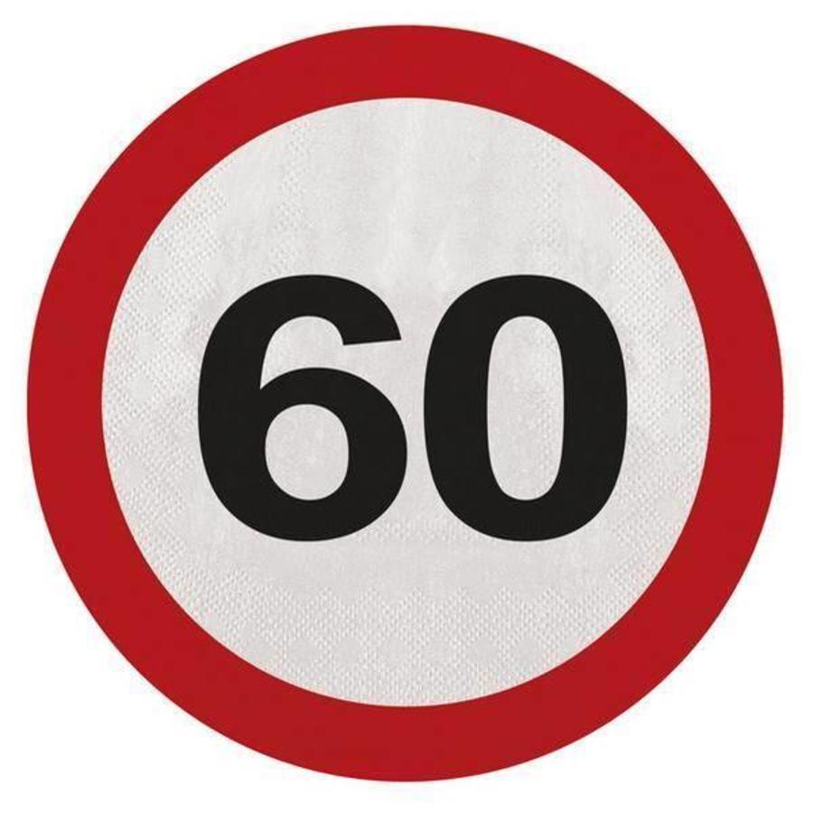 Servetten 60 jaar verkeersbord