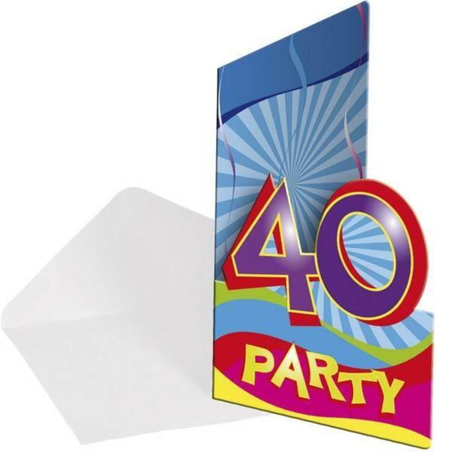 Uitnodigingskaartjes 40 jaar