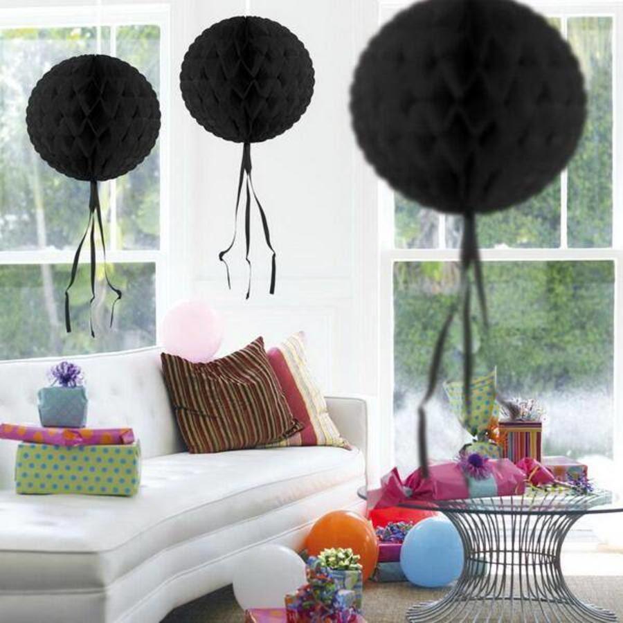 Honeycomb decoratie 30cm zwart