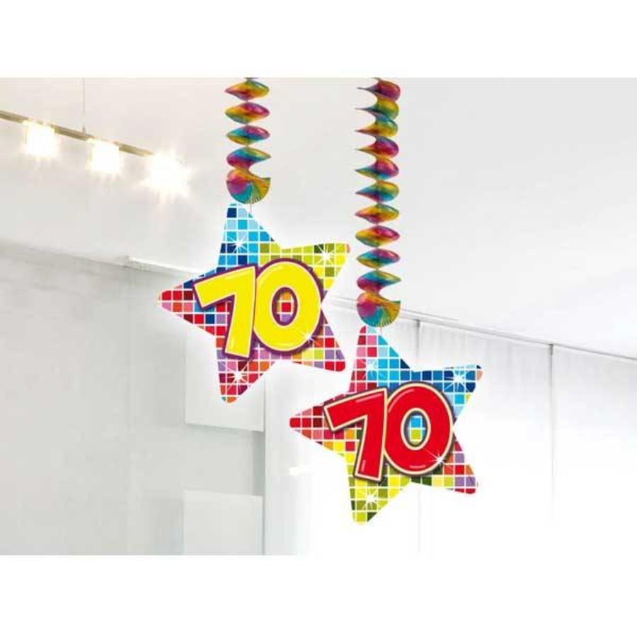 Hangdecoratie 70 jaar blocks