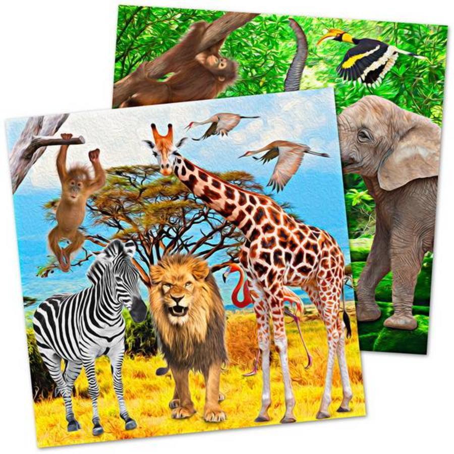 Servetten safari 20 stuks