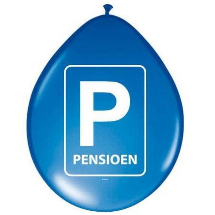 Ballonnen Pensioen blauw