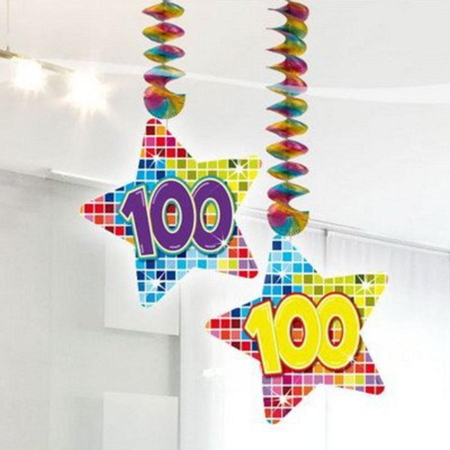 Hangdecoratie 100 jaar blocks