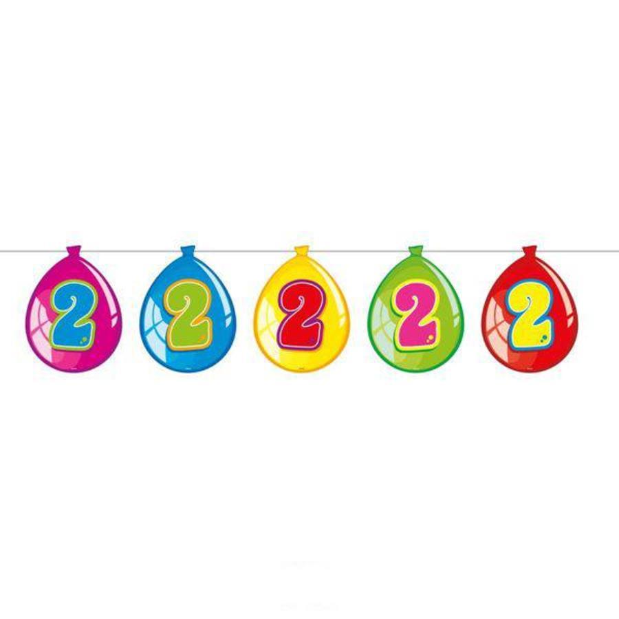 Slinger 2 jaar bedrukt op decoratieballonnen