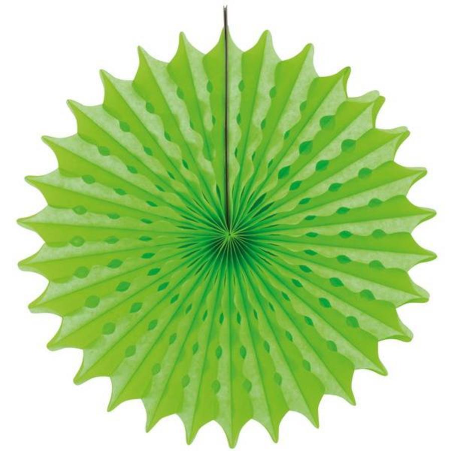 Honeycomb waaier 45cm neon groen