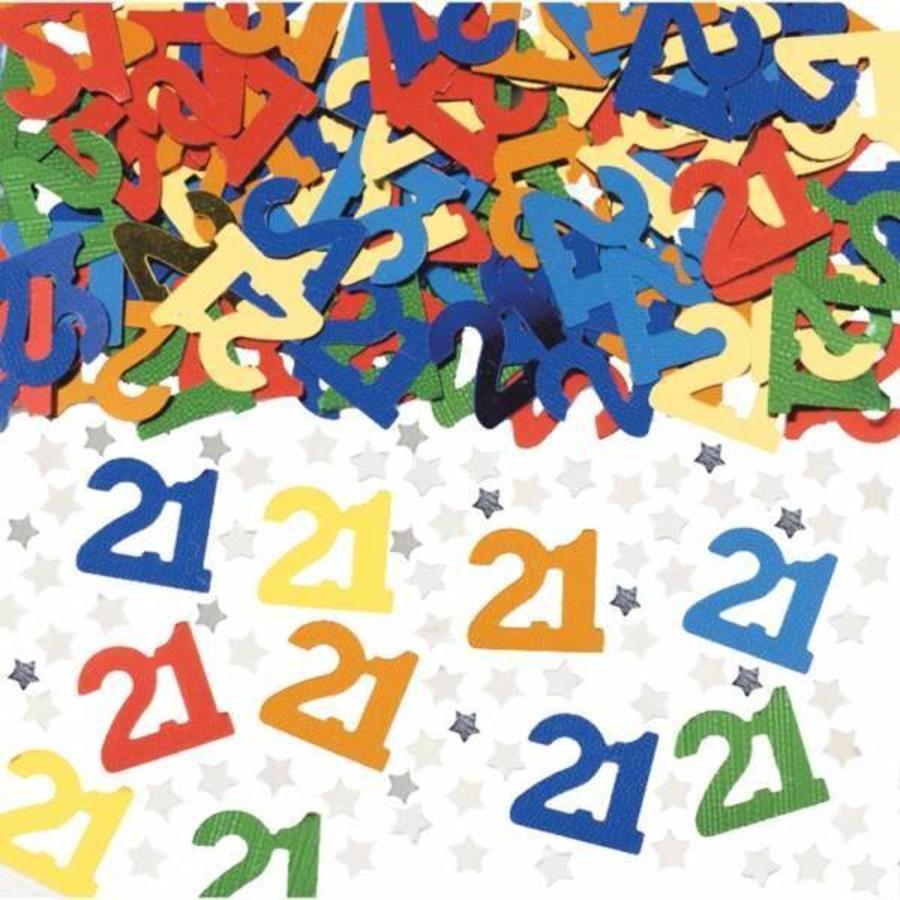 Confetti glitter 21 jaar