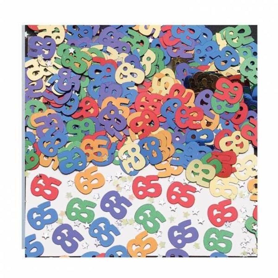 Confetti glitter 65 jaar