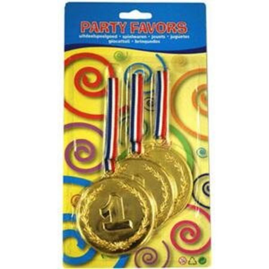 Medaille groot 3 stuks