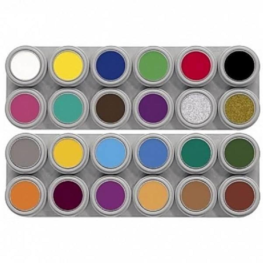 Grimas schmink palet 24 kleuren (A+B)