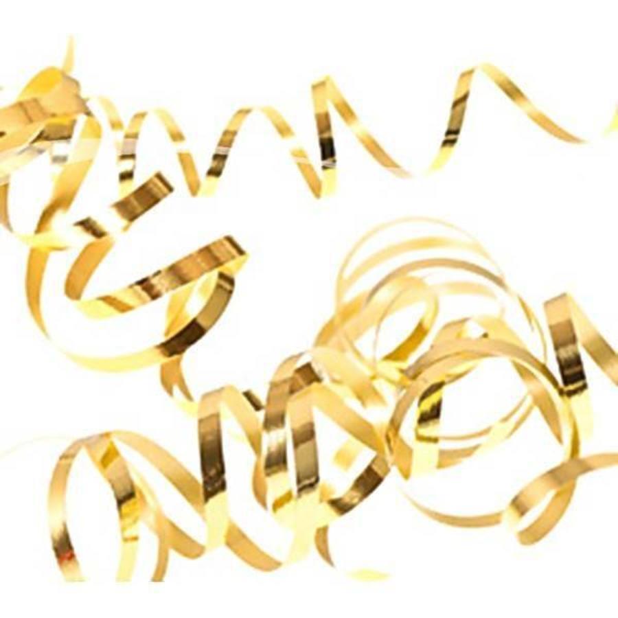 Serpentine slingers goudkleurig 3 stuks
