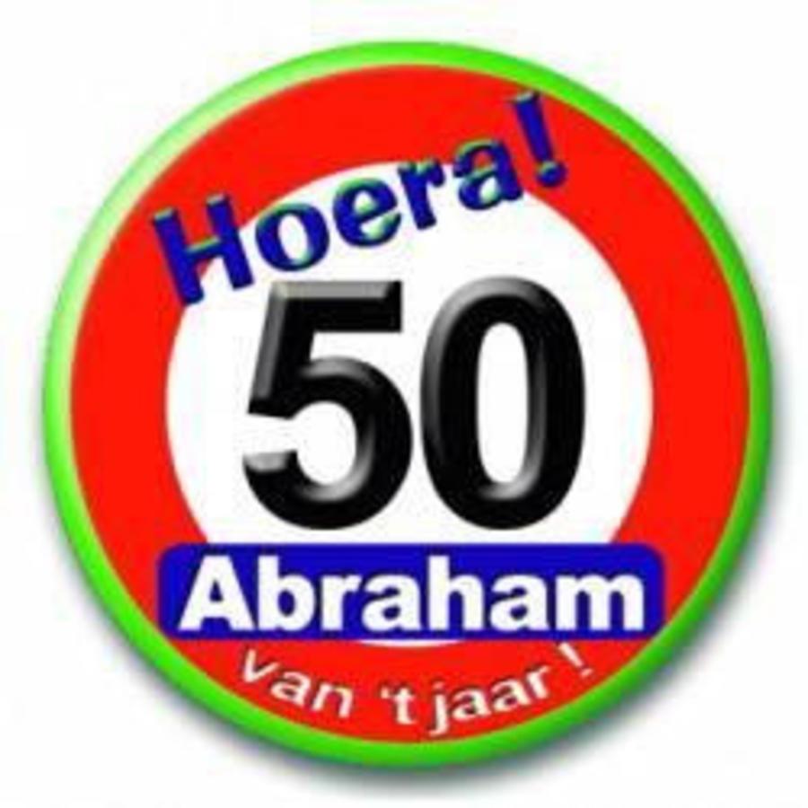 Button 50 verkeersbord Abraham