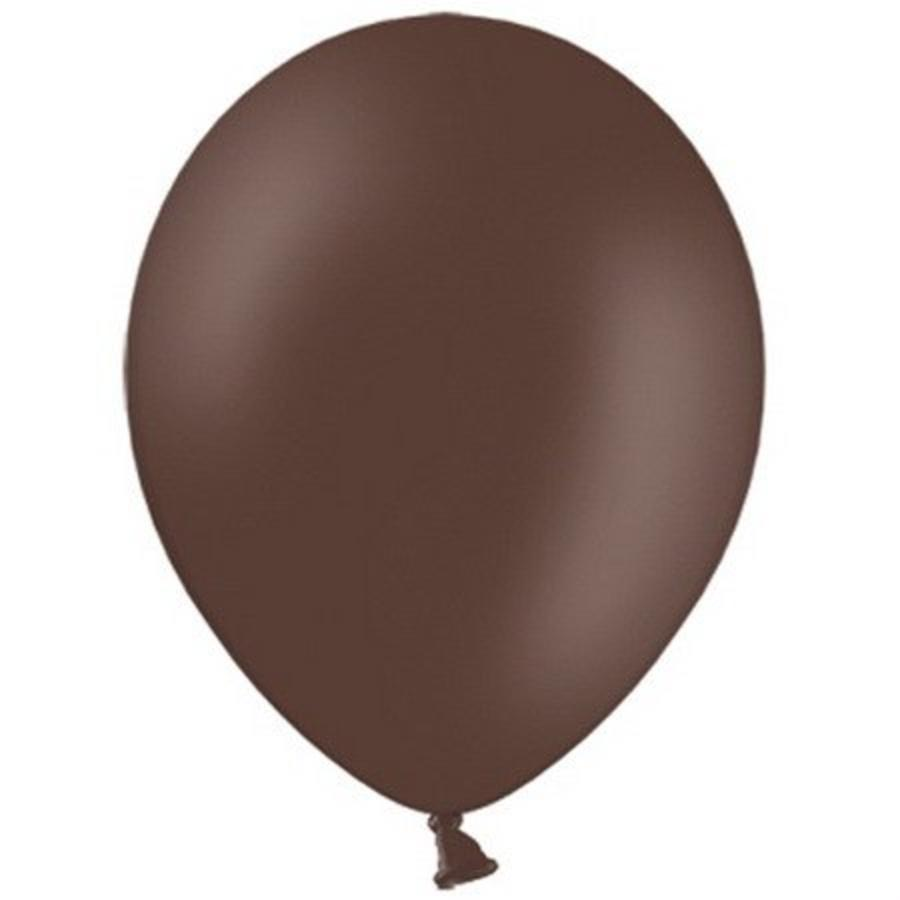 Ballonnen donkerbruin 10 stuks