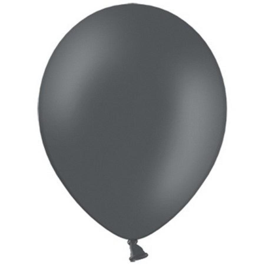 Ballonnen donkergrijs 10 stuks