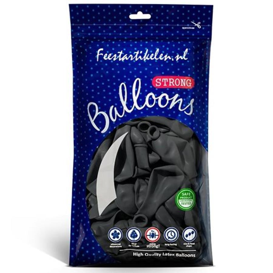 Ballonnen donkergrijs 100 stuks