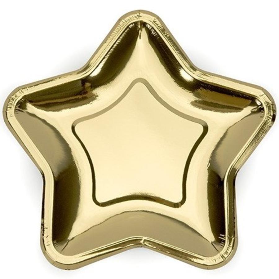 Bordjes Hollywood ster goudkleurig