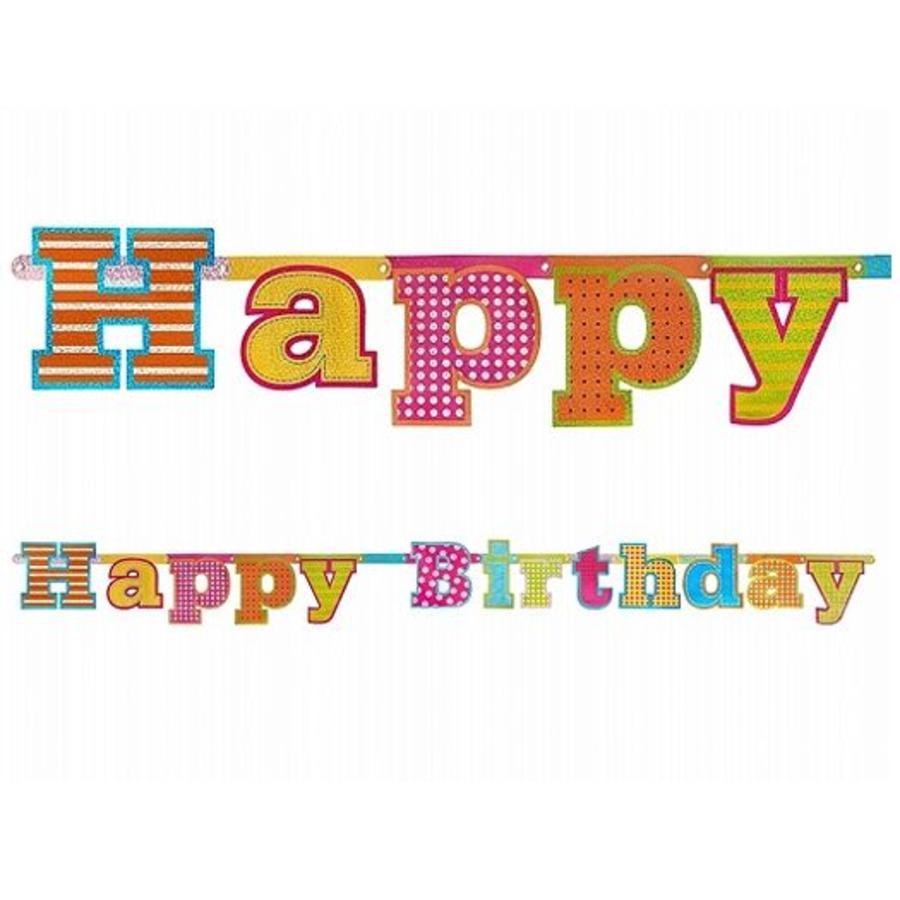 Letterslinger Happy birthday glitter