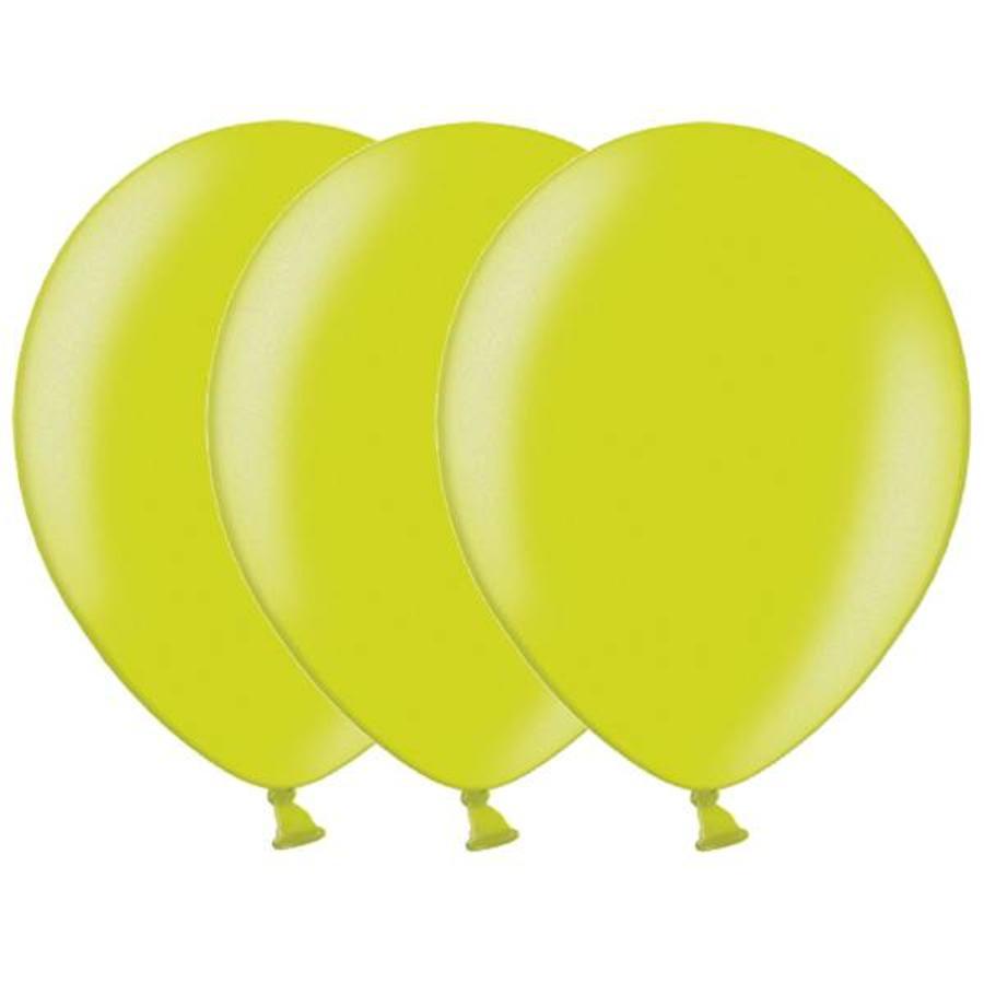 Metallic ballonnen 1e klas appelgroen 20 stuks