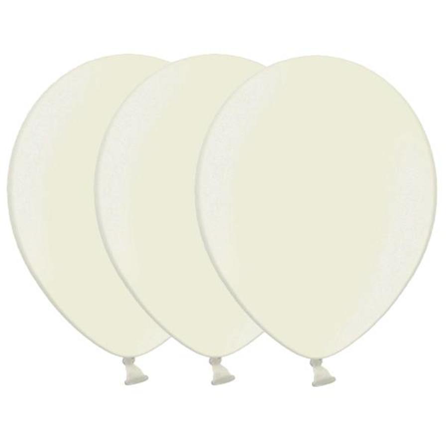 Metallic ballonnen 1e klas crème 20 stuks