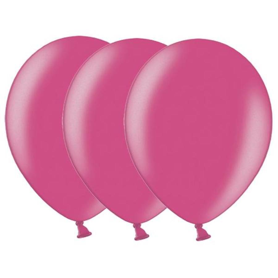 Metallic ballonnen 1e klas donkerroze 20 stuks