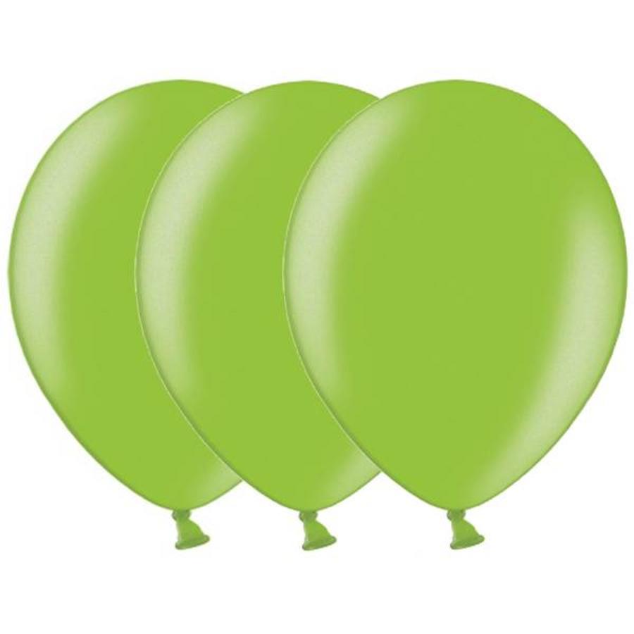 Metallic ballonnen 1e klas lichtgroen 20 stuks