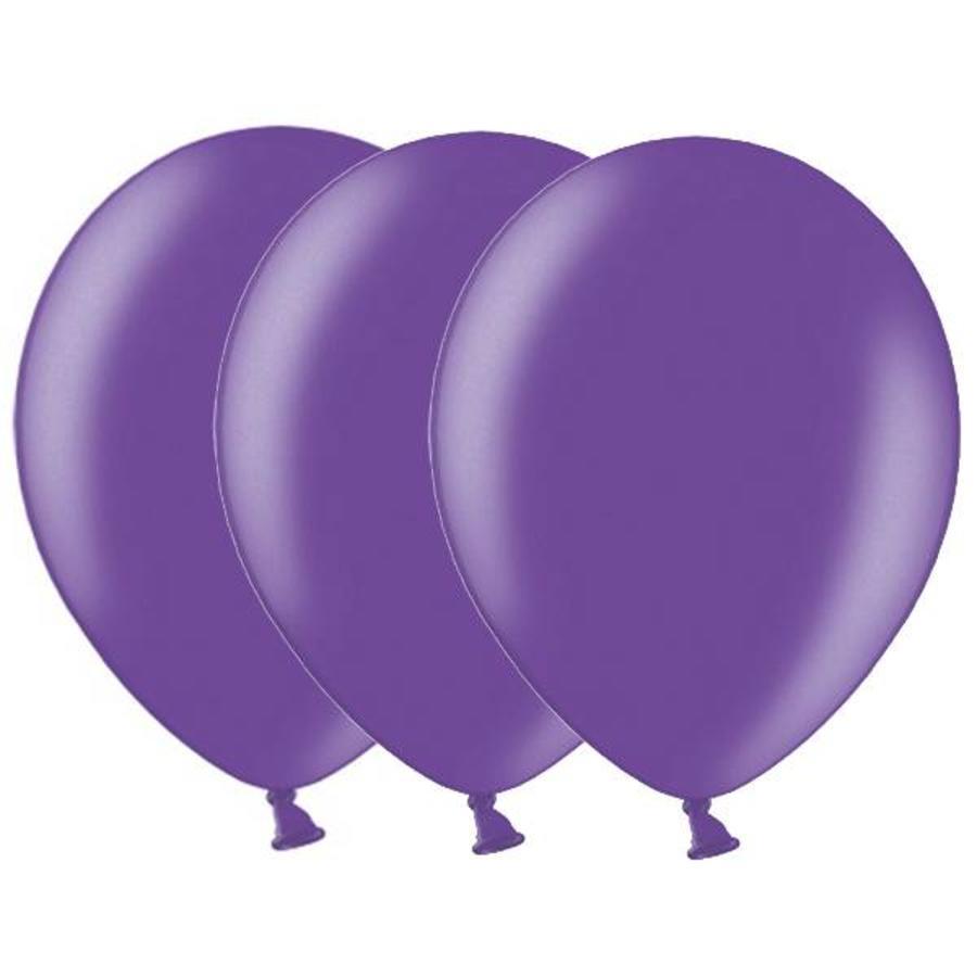 Metallic ballonnen 1e klas donkerpaars 20 stuks