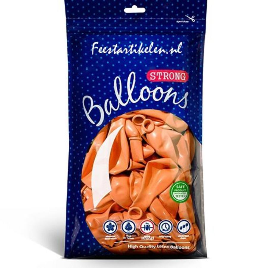 Metallic ballonnen 1e klas oranje 100 stuks