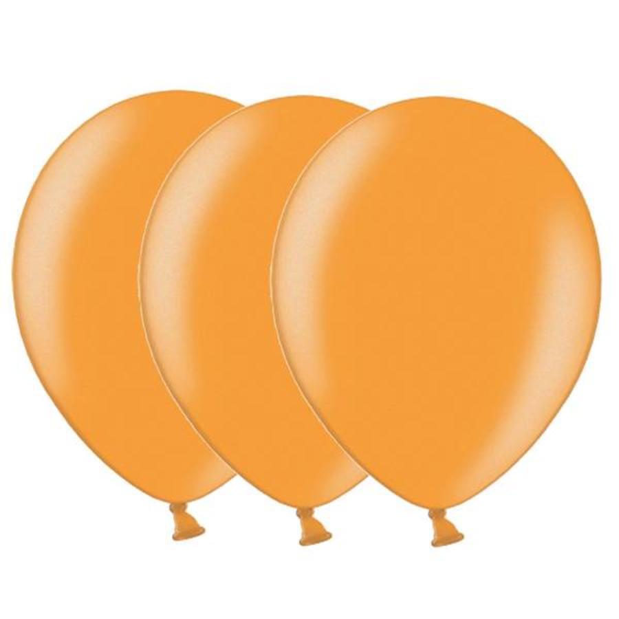 Metallic ballonnen 1e klas oranje 20 stuks