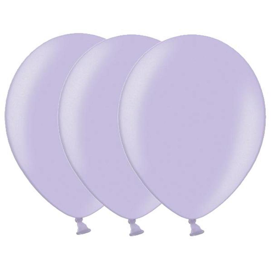 Metallic ballonnen 1e klas lichtpaars 20 stuks
