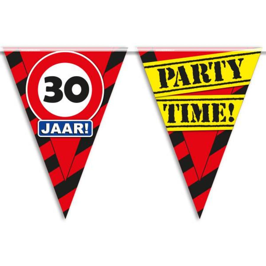 Vlaggenlijn slinger 30 jaar Party Time