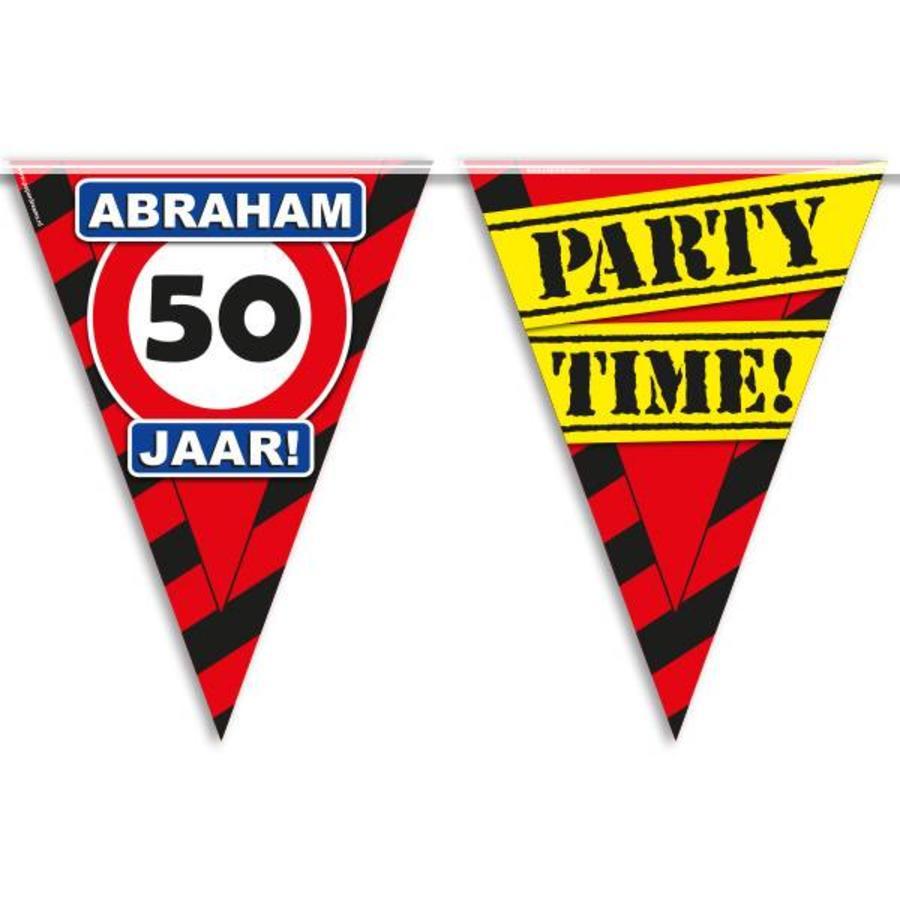 Vlaggenlijn slinger 50 jaar Abraham party