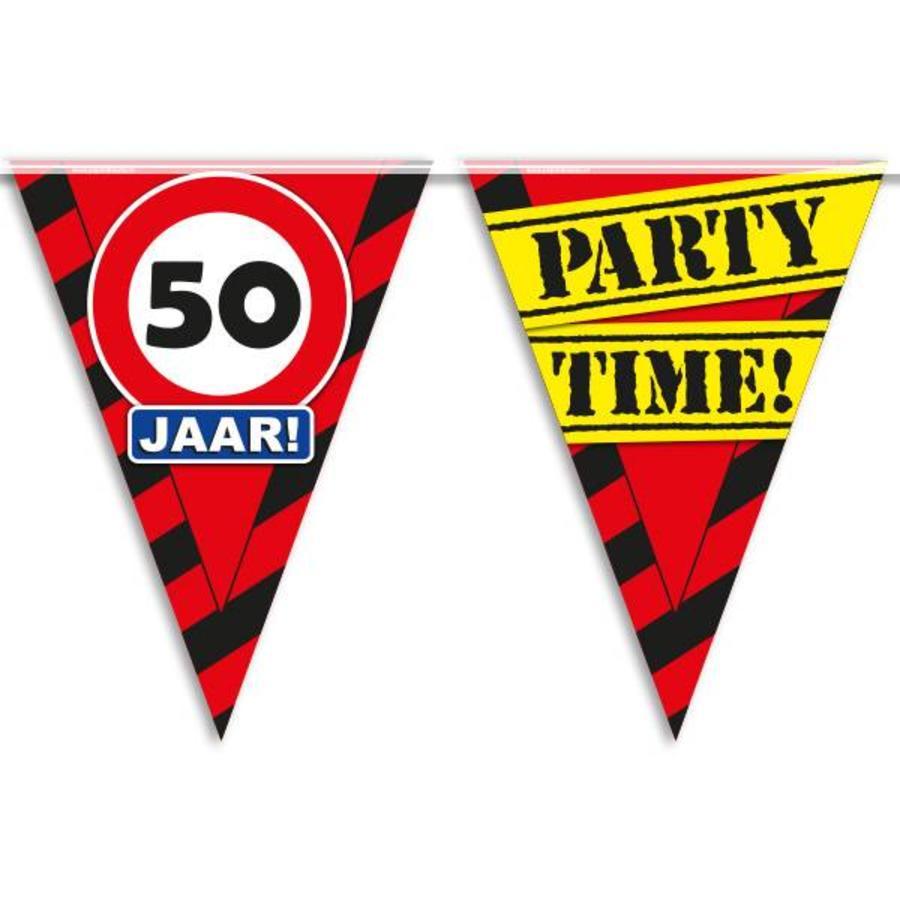 Vlaggenlijn slinger 50 jaar Party Time