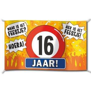 16 Jaar Verjaardag Slingers En Versiering Feestartikelen Nl