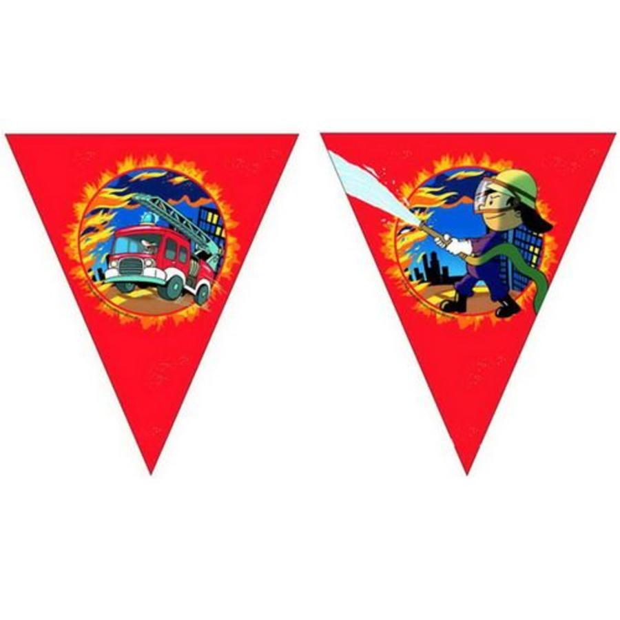 Vlaggenlijn Blussende Brandweerman