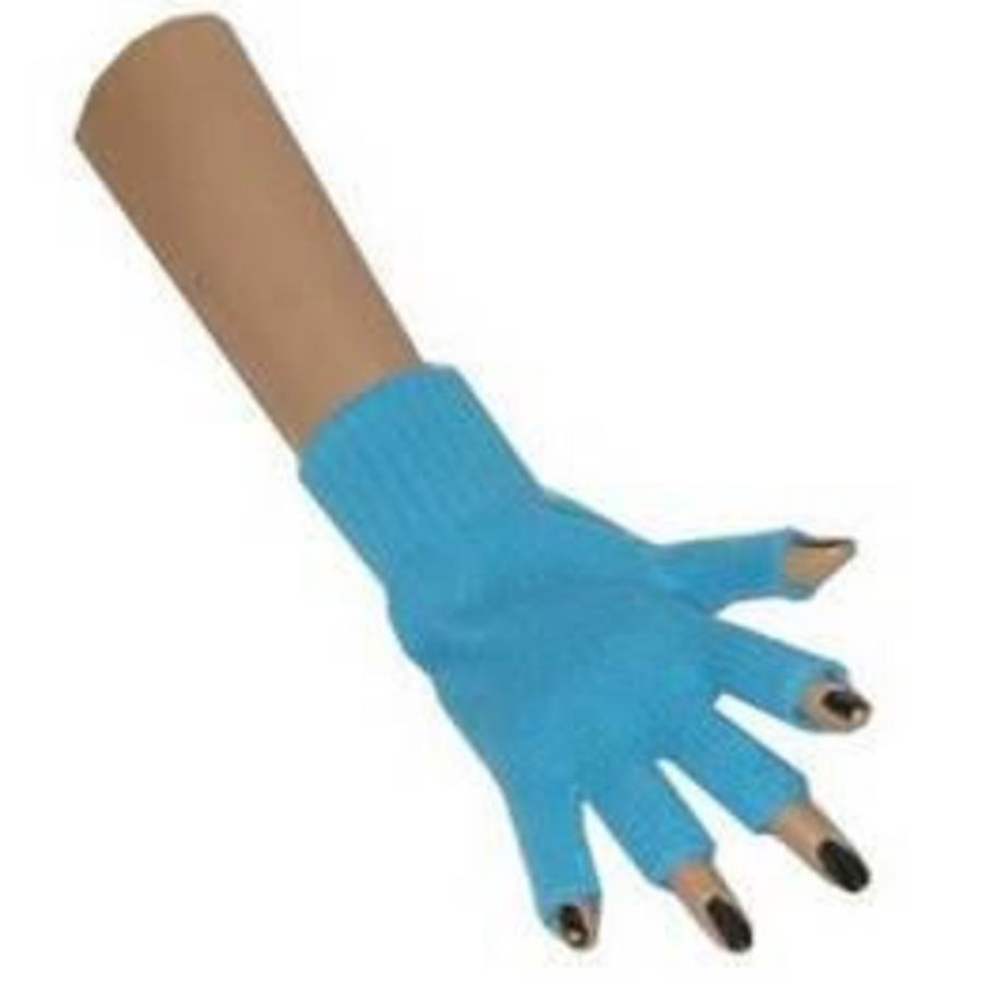 Handschoenen vingerloos turquoise