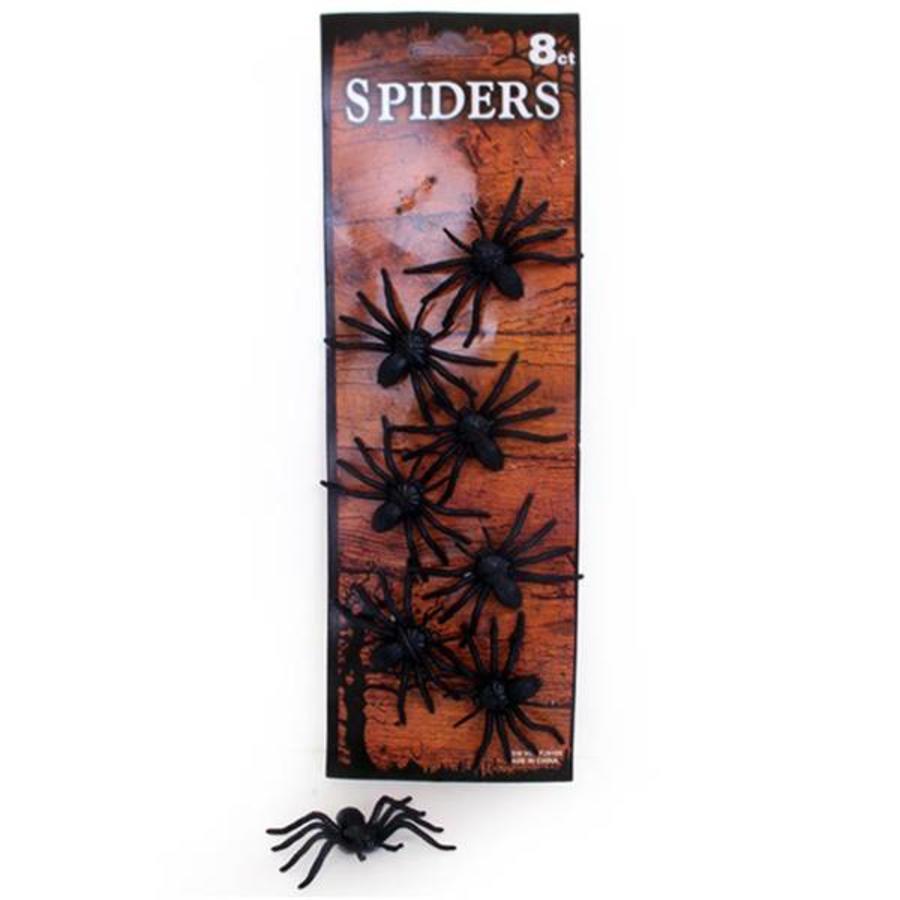 Spinnen op kaart 8 stuks