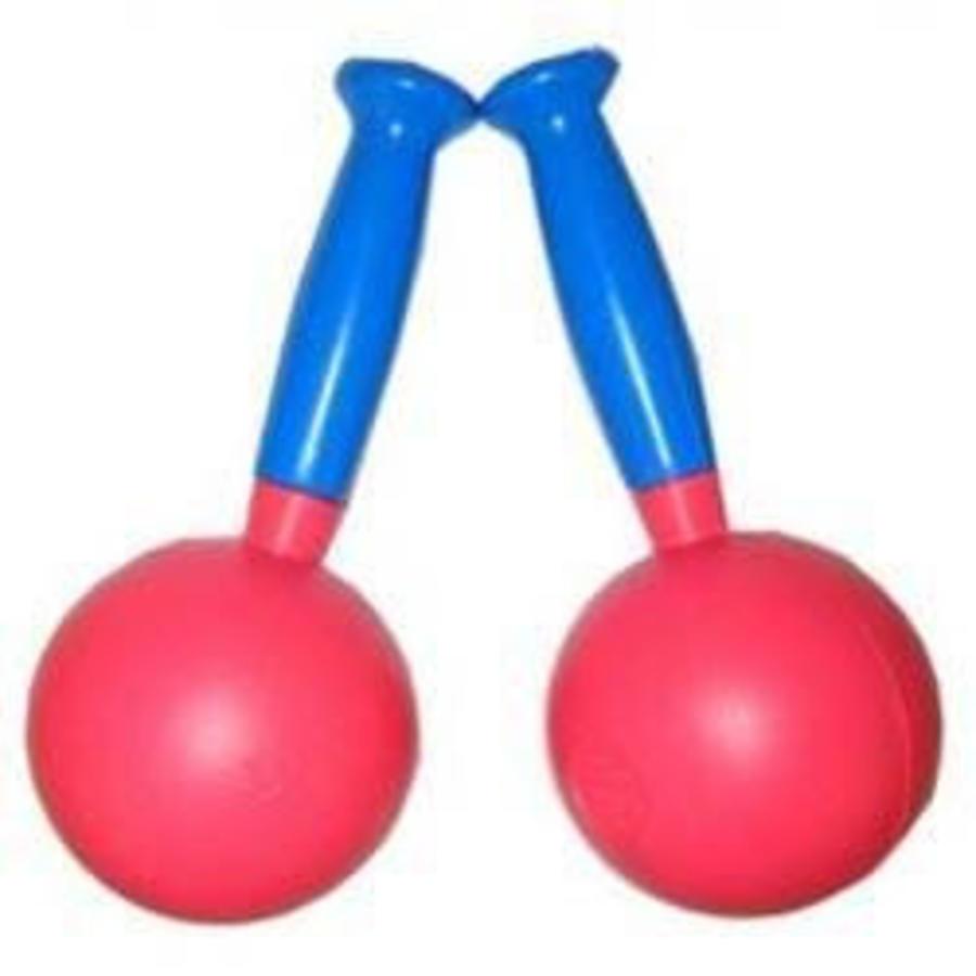Sambaballen bont gekleurd 2 stuks