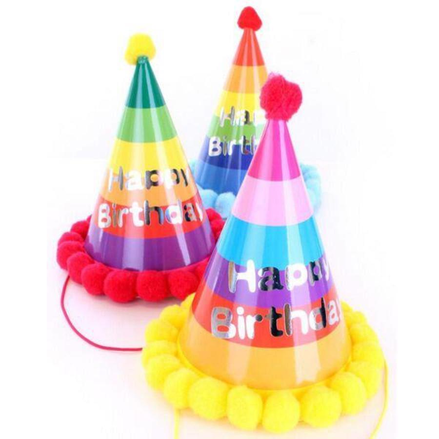 Hoedje Happy Birthday luxe