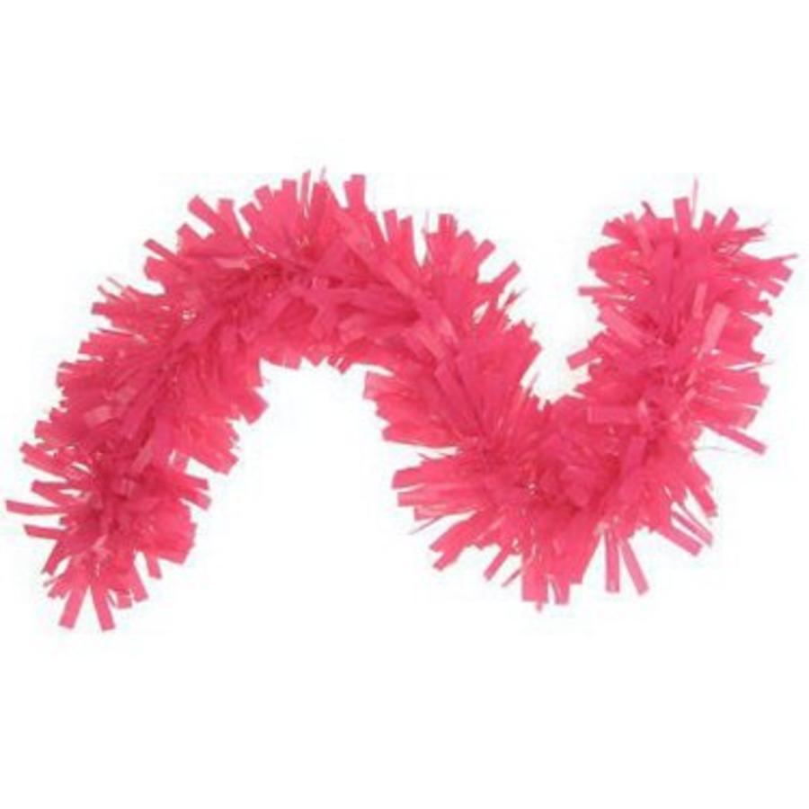 Brandvertragende slinger roze plastic 10 meter