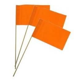 Zwaaivlaggetje papier oranje 50 stuks