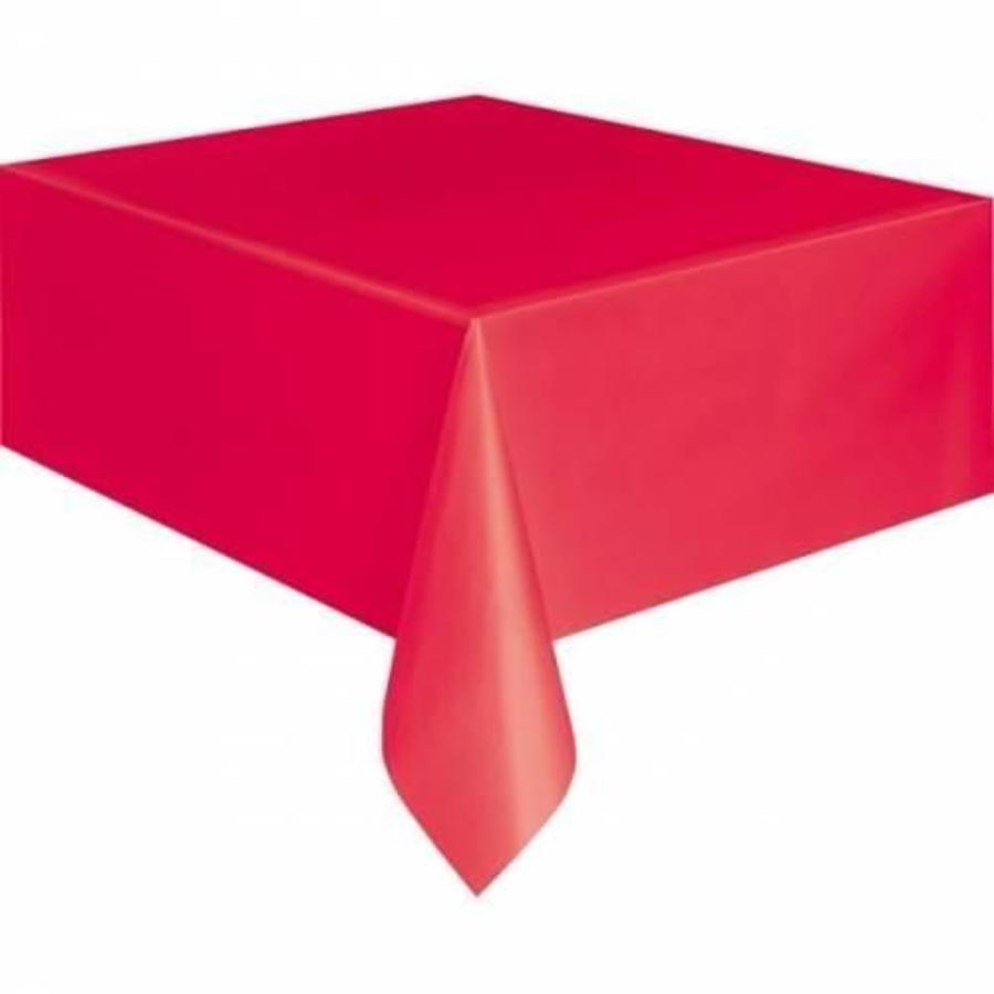 Tafelkleed rood plastic