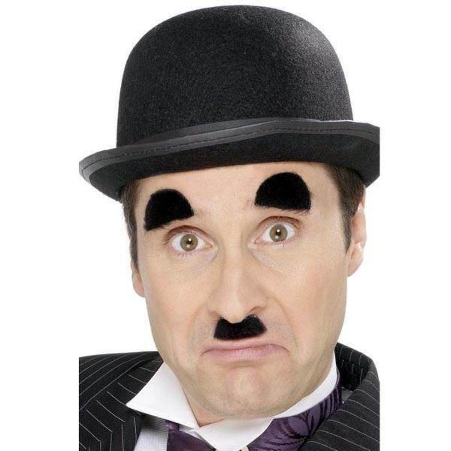 Snor en wenkbrauwen Chaplin